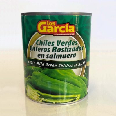 Mild Whole Green Chillies - 765gm CANS - Los Garcia