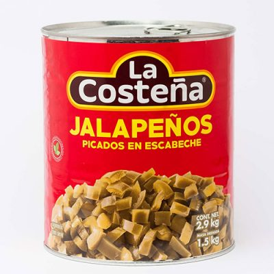 DICED JALAPENOS - 6 x A10 cans